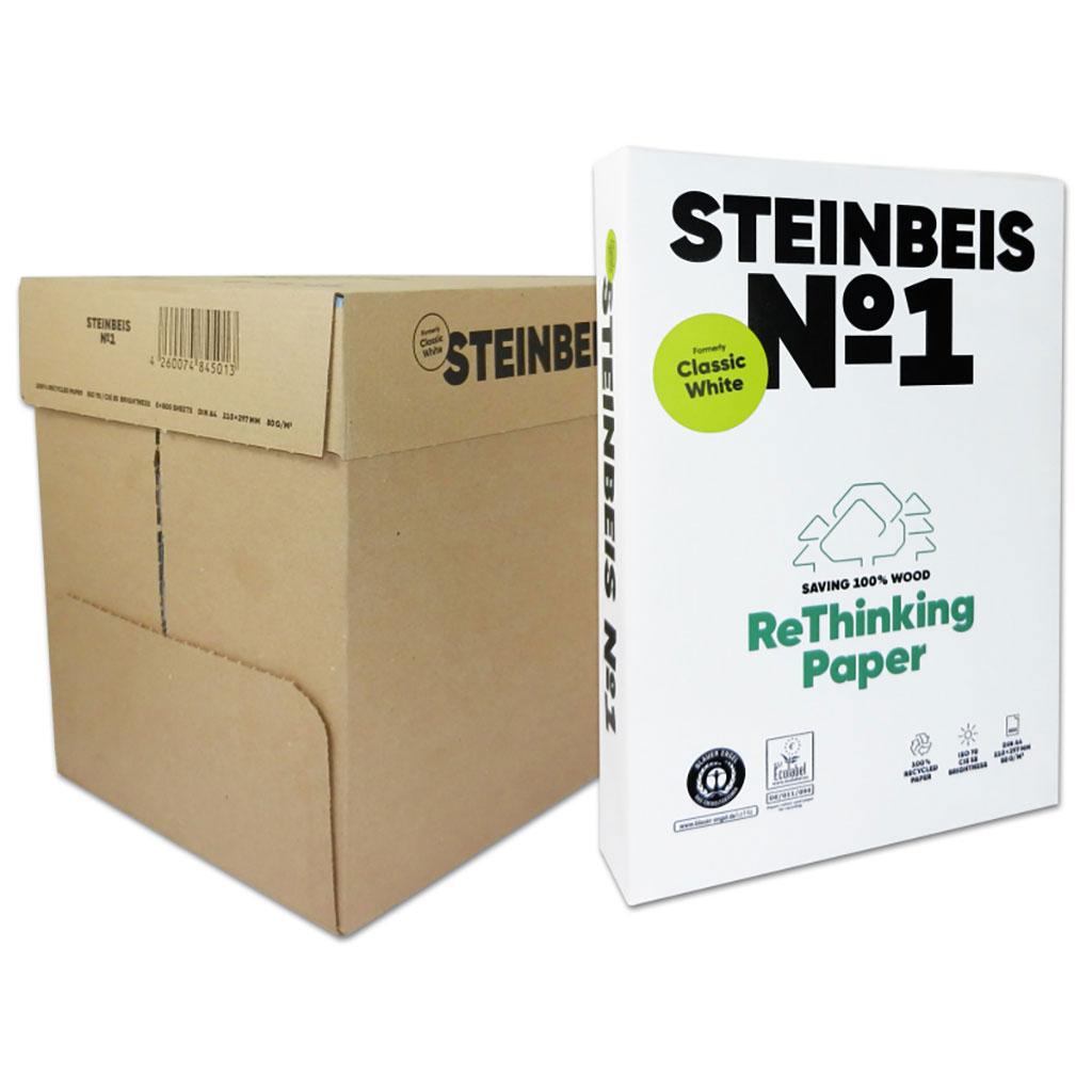Papier kopírovací recyklovaný Classic White A4 80 g kartón (5 balíkov)