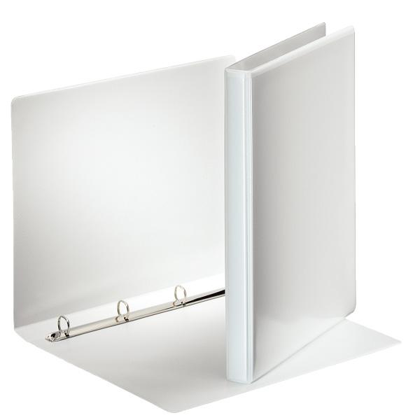 Karisblok 4-krúžkový Esselte, A4, PP, prezentačný, 3 cm, biely