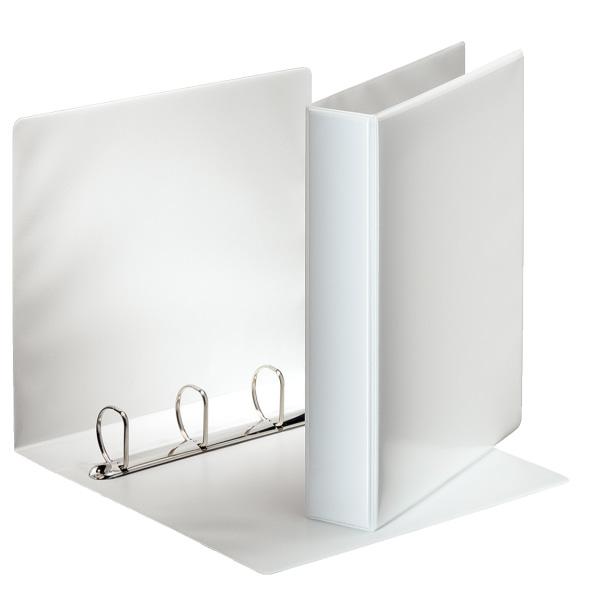 Karisblok 4-krúžkový Esselte, A4, PP, prezentačný, 6,2 cm, biely