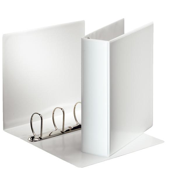 Karisblok 4-krúžkový Esselte, A4, PP, prezentačný, 8,6 cm, biely