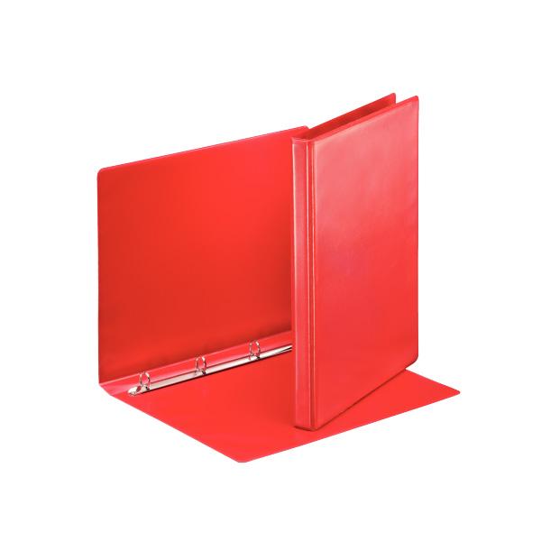 Karisblok 4-krúžkový Esselte, A4, PP, prezentačný, 3 cm, červený