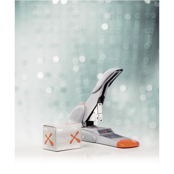 Veľkokapacitná zošívačka Rapid Fashion DUAX®, 170 listov, strieborná