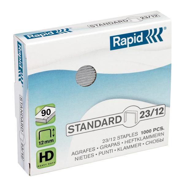 Zošívacie spony Rapid Standard 23/12 mm/1000 ks