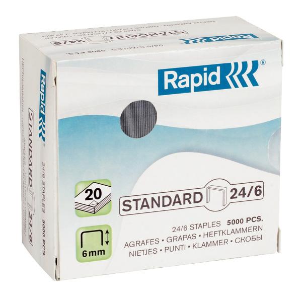Zošívacie spony Rapid Standard 24/6 mm/5000 ks