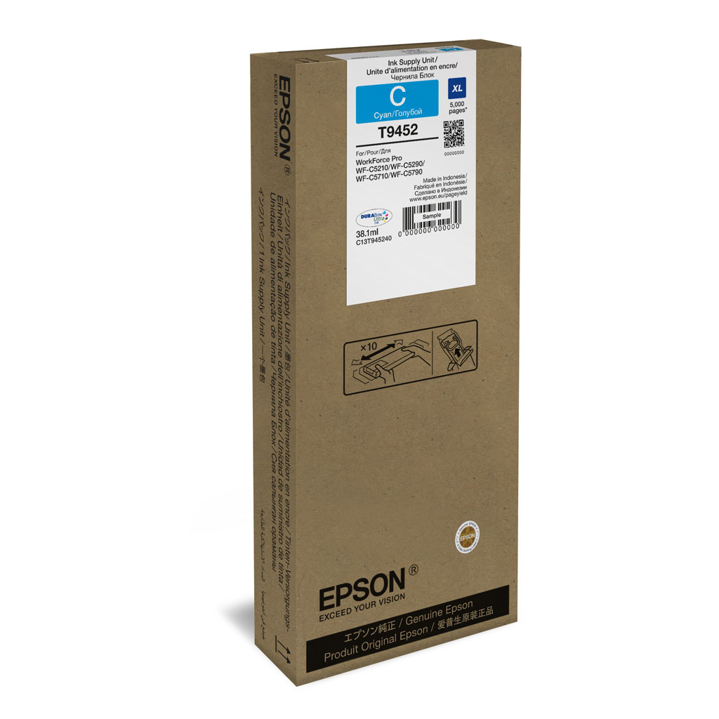 Inkjet Epson C13T945240 pre WorkForce WF-C5210, C5290, C5710, C5790 (5.000 str.) Cyan XL