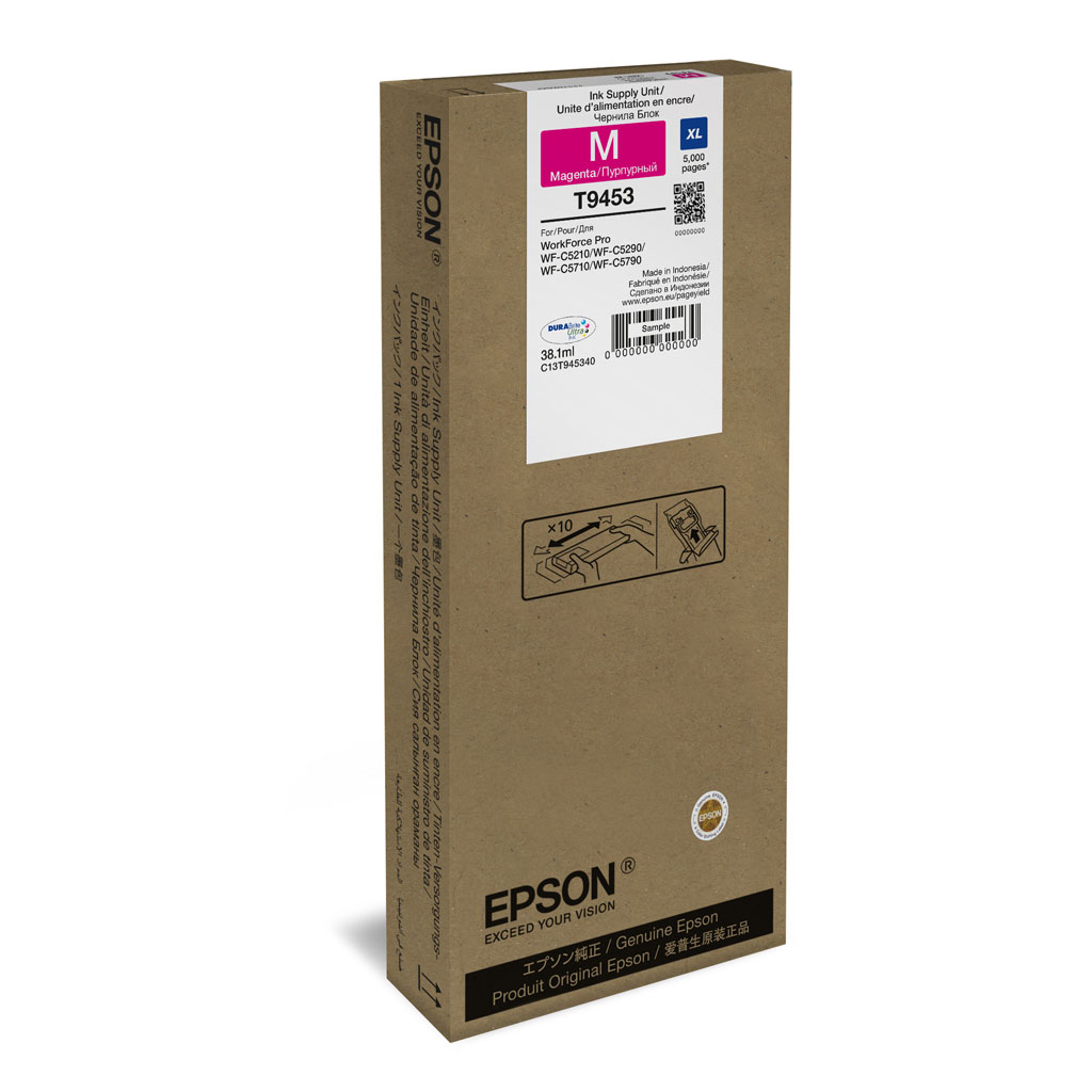 Inkjet Epson C13T945340 pre WorkForce WF-C5210, C5290, C5710, C5790 (5.000 str.) Magenta XL