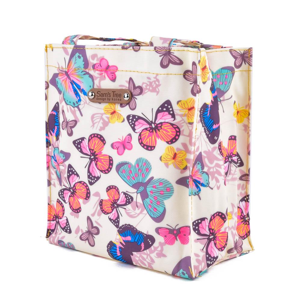 Taška s plochým dnom, motýle