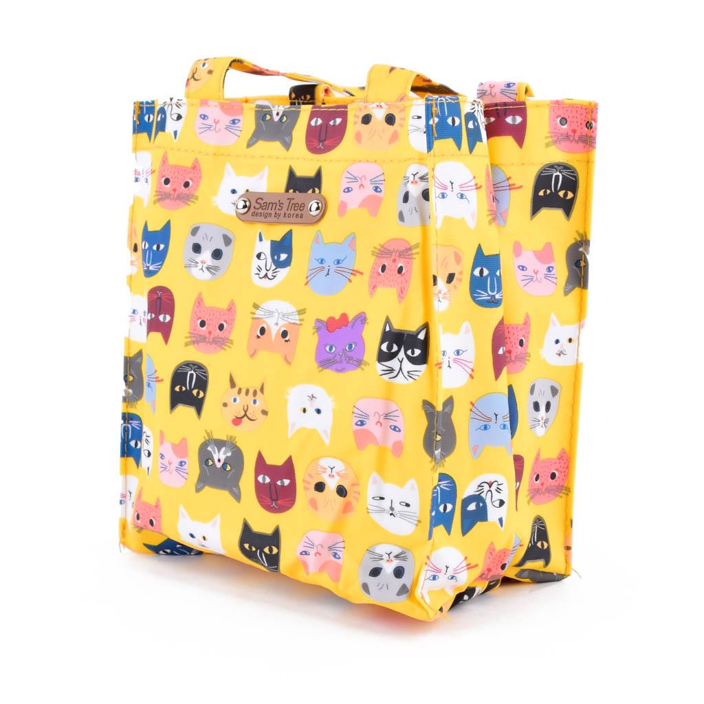 Taška s plochým dnom, mačky