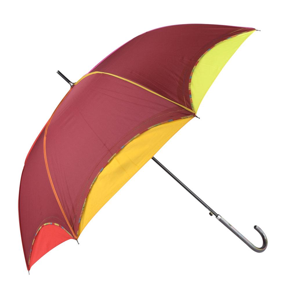 Dáždnik dúhový okraj, bordová