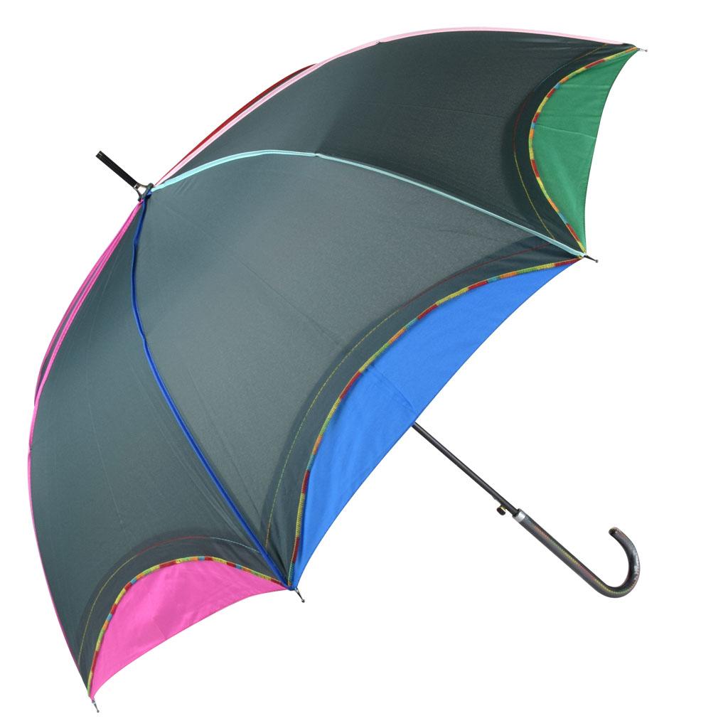 Dáždnik dúhový okraj, zelená