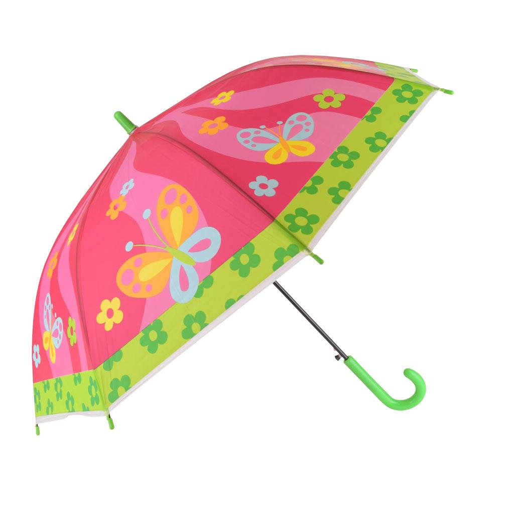 Dáždnik detský, ružová, motýľ