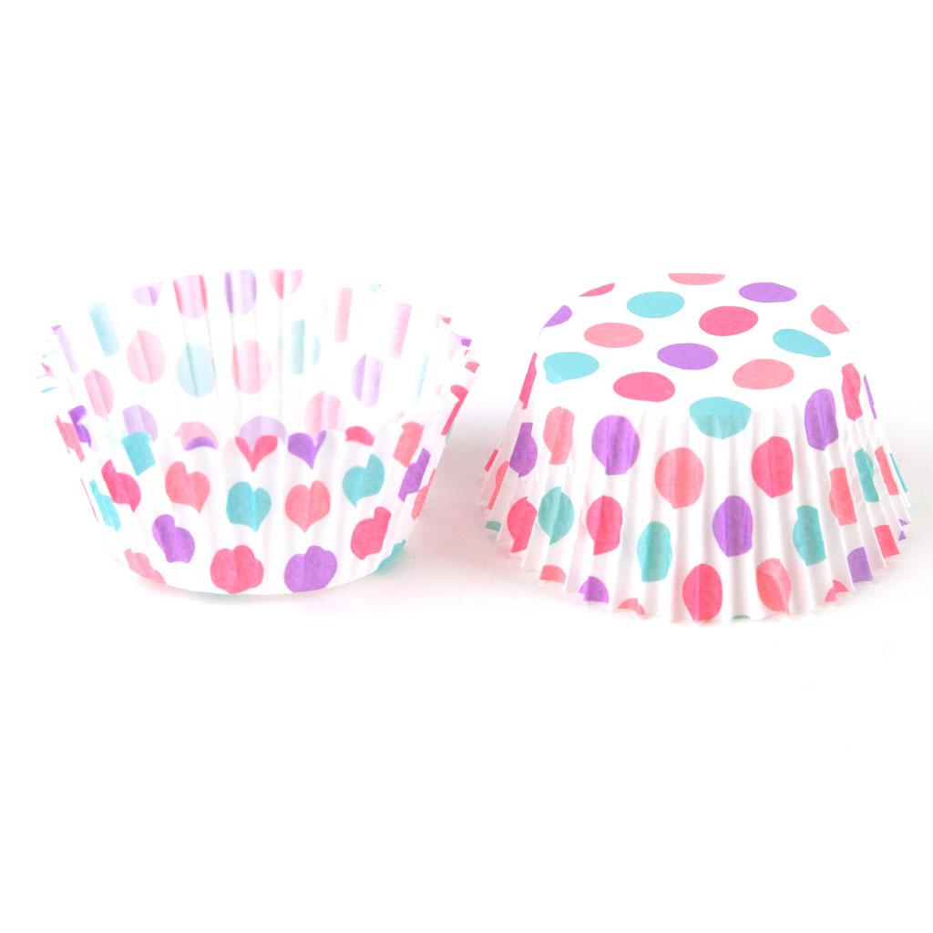 Košíčky farebné, priemer 5cm, 100ks - mix dizajnov