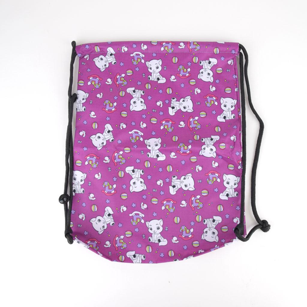 Vrecko na prezúvky, mačka - fialová farba