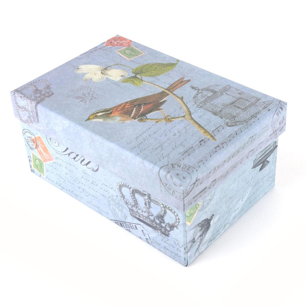 "Papierová krabica 19,5x29x11 cm, ""Vintage kvet"""