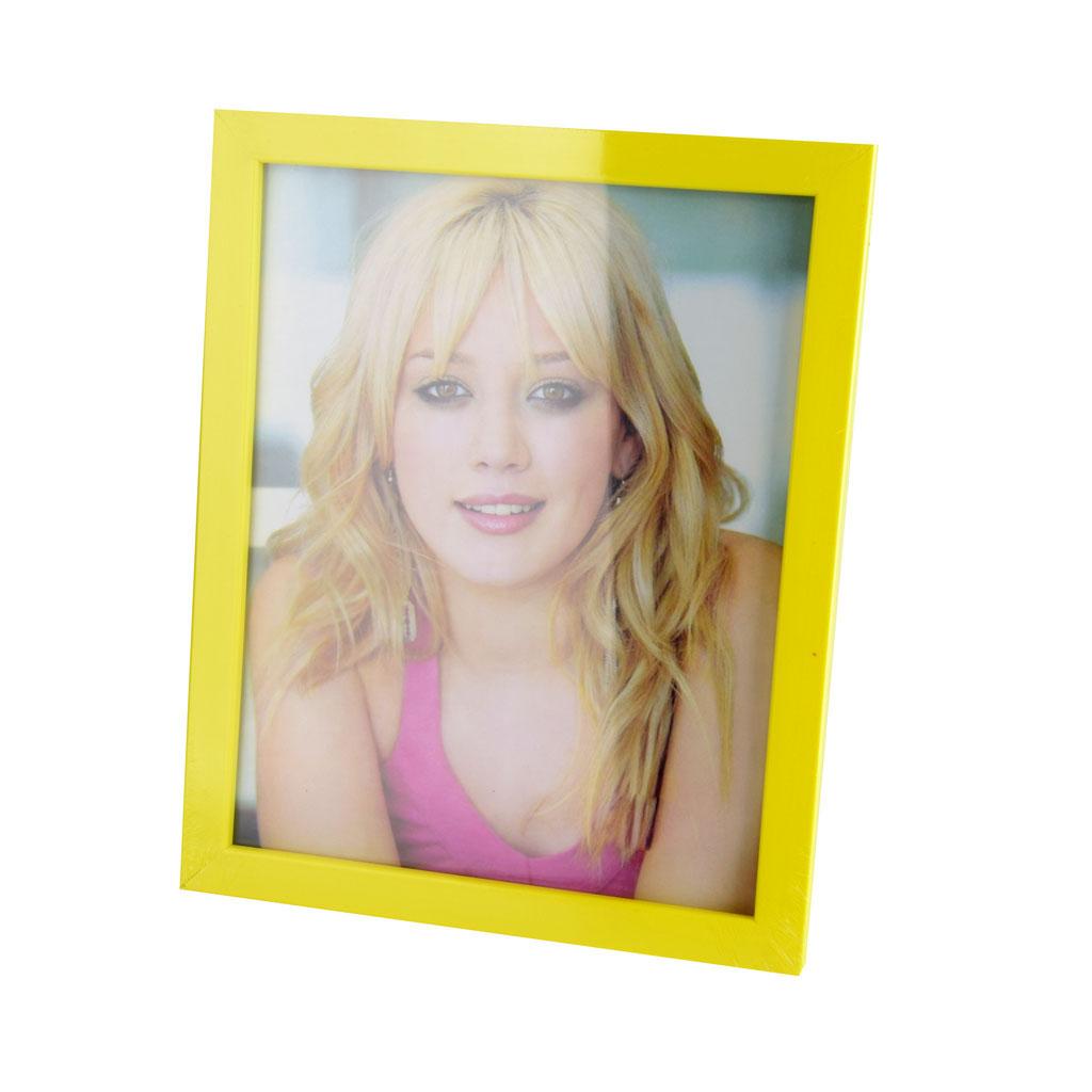 Fotorámik plastový, 10x15cm, žltá