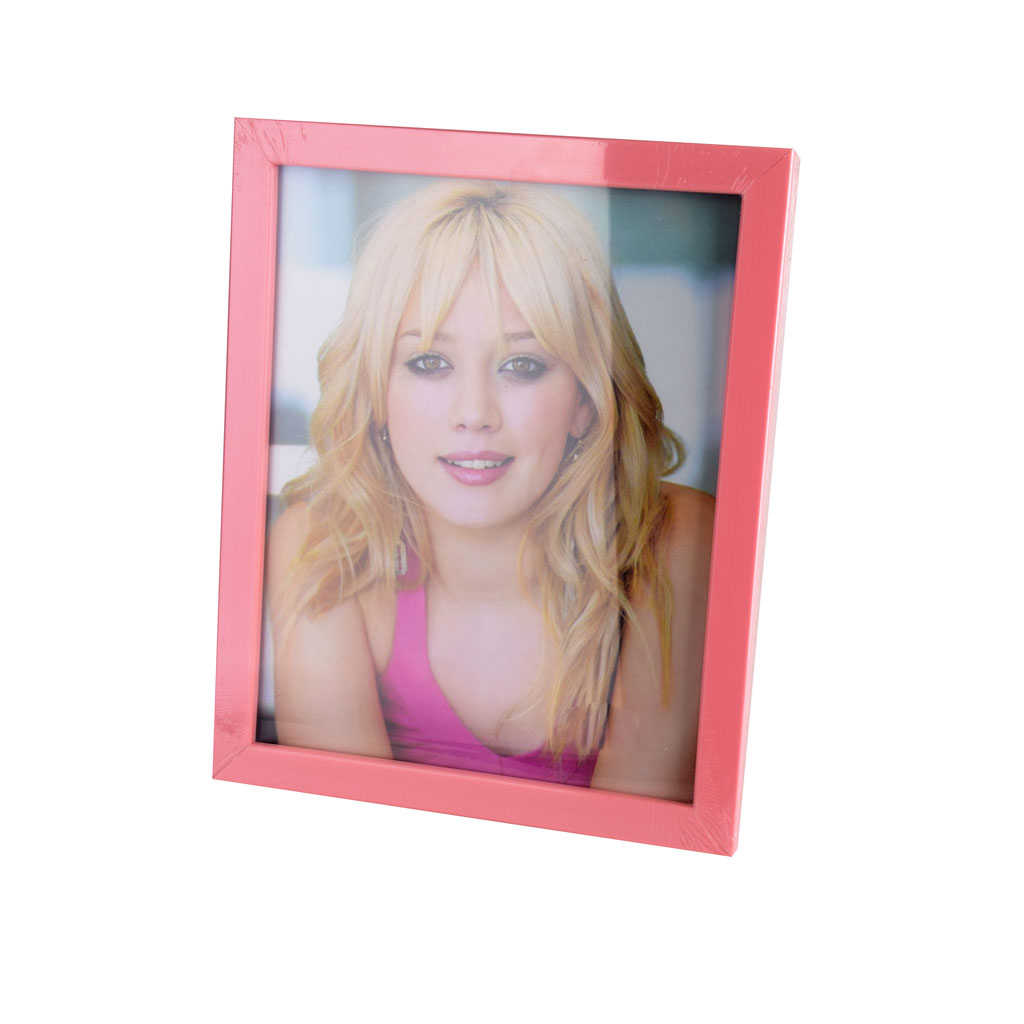 Fotorámik plastový, 13x18cm, ružový