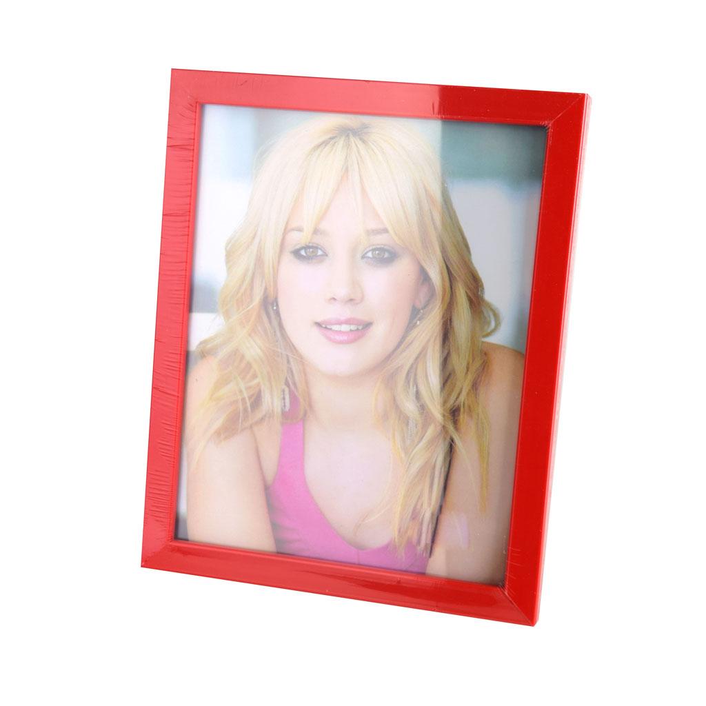 Fotorámik plastový, 15x20cm, červený