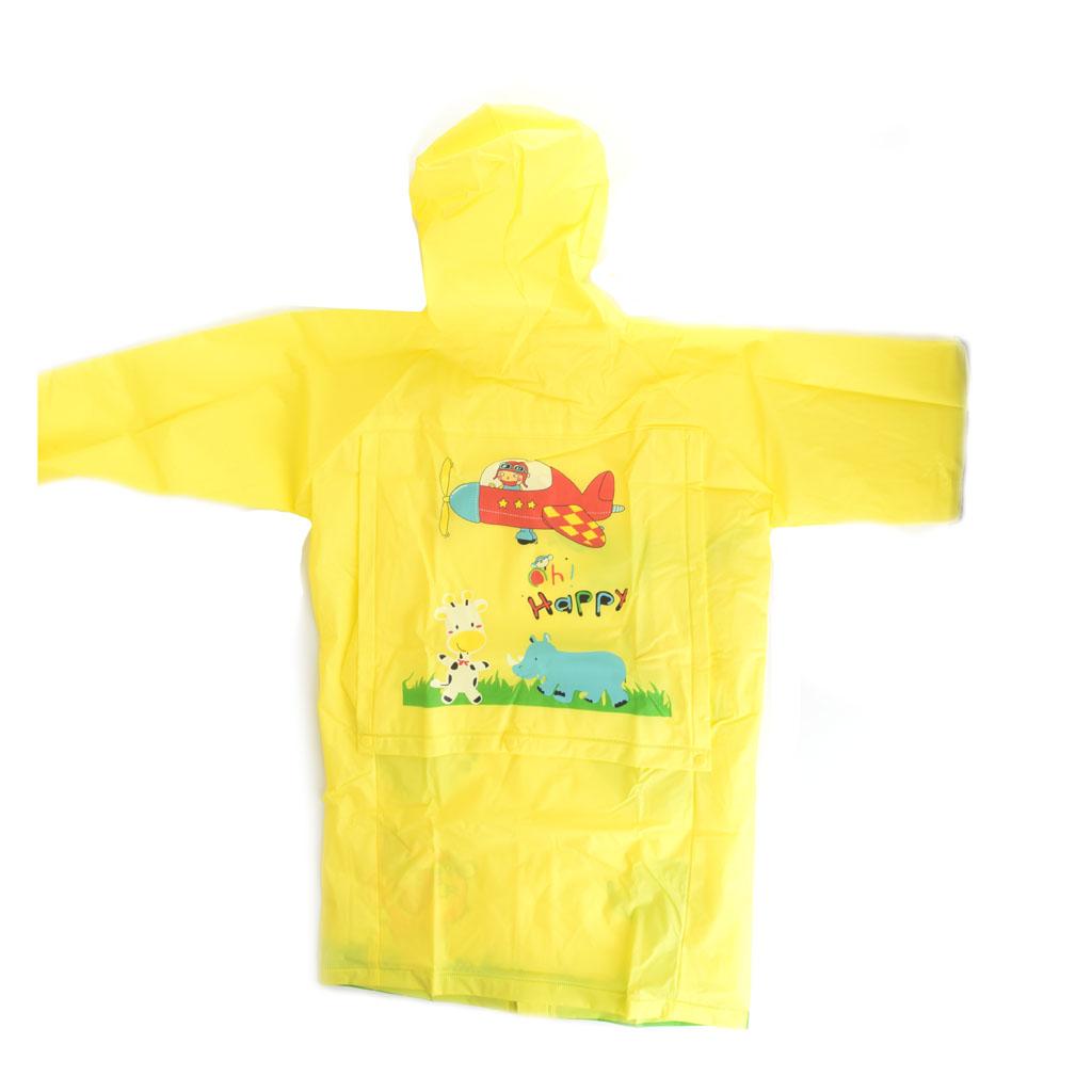 Detský pršiplášť, veľkosť M, žltý, zvieratká