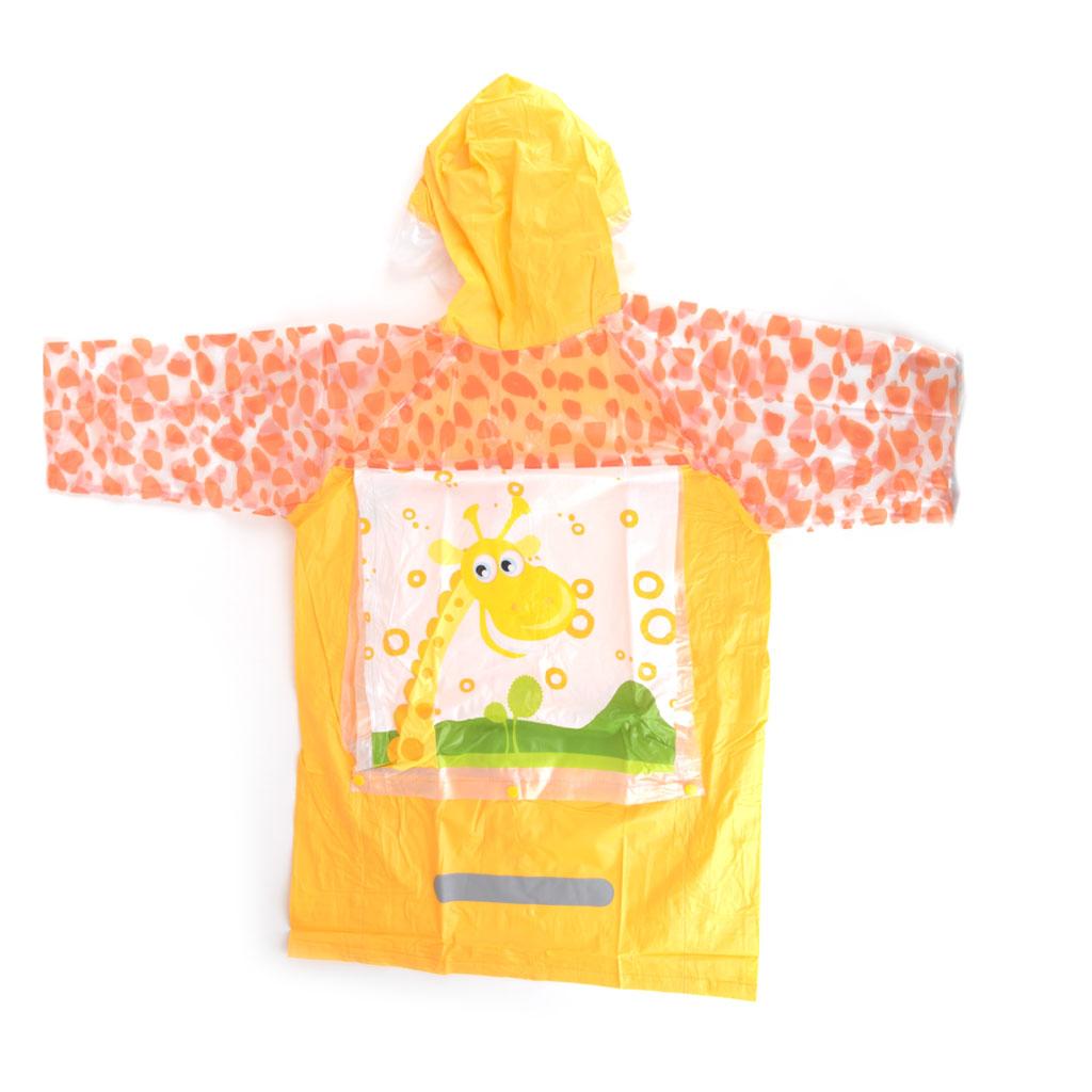 Detský pršiplášť, veľkosť M, oranžový, žirafa
