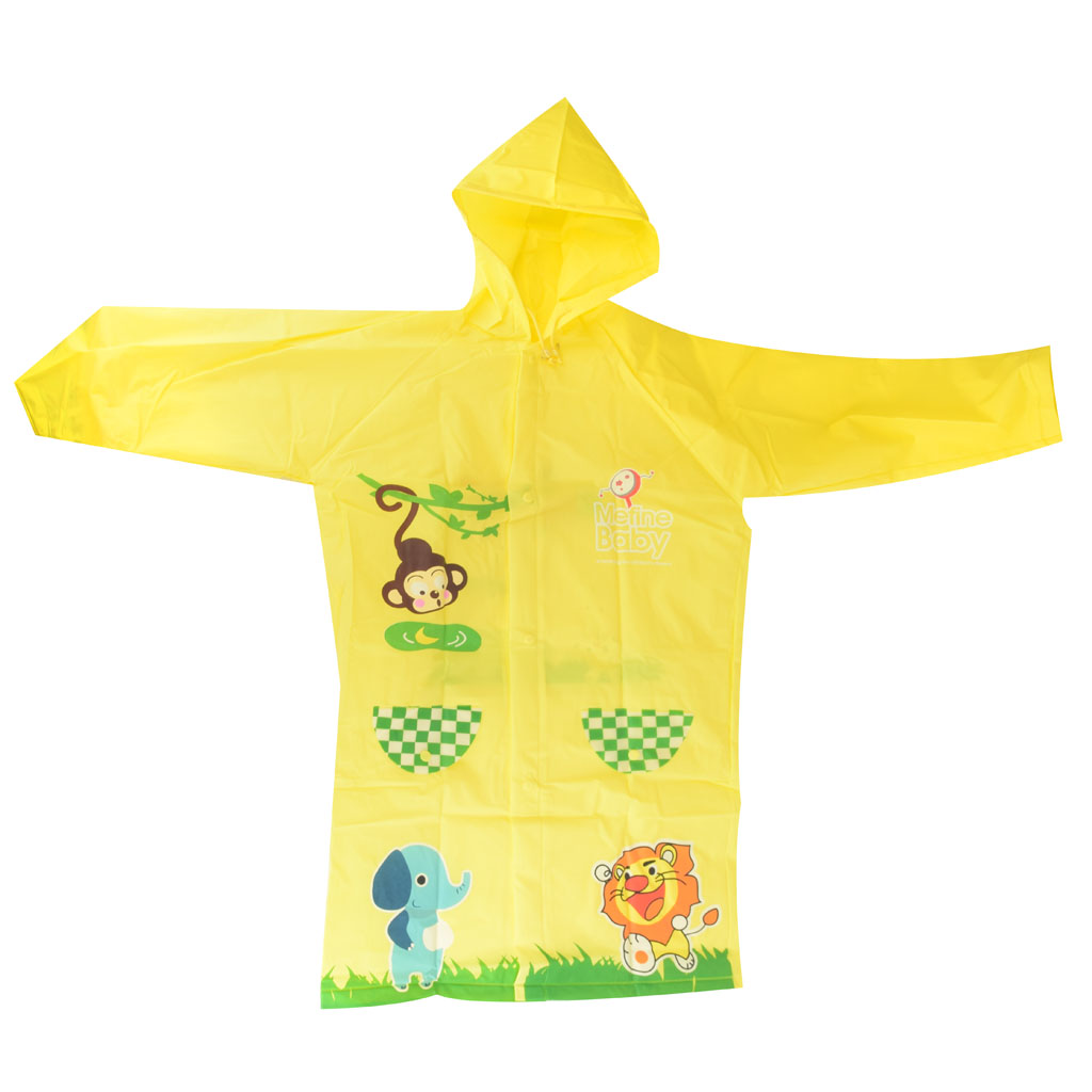 Detský pršiplášť, veľkosť L, žltý, zvieratká