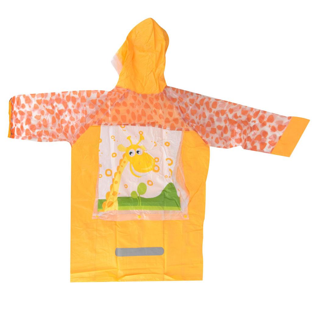 Detský pršiplášť, veľkosť L, oranžový, žirafa
