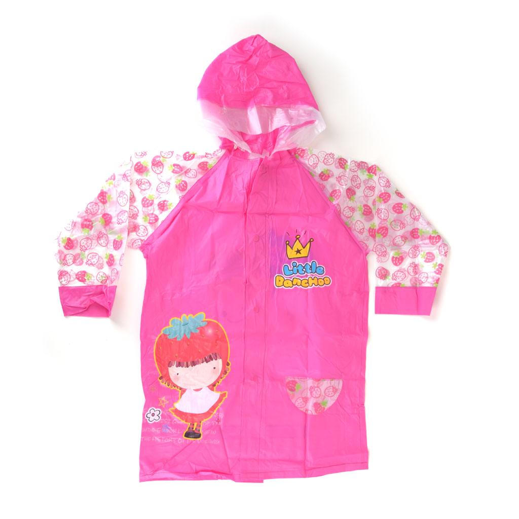 Detský pršiplášť, veľkosť L, ružový, dievčatko
