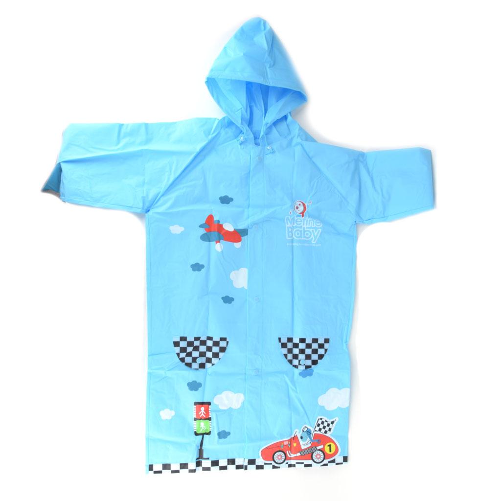 Detský pršiplášť, veľkosť L, modrý, semafór