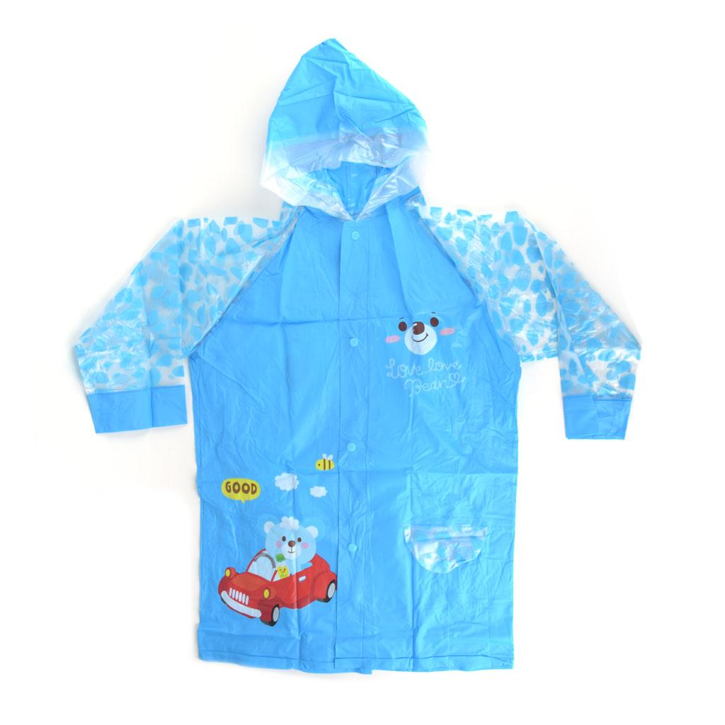 Detský pršiplášť, veľkosť L, modrý, macko Good