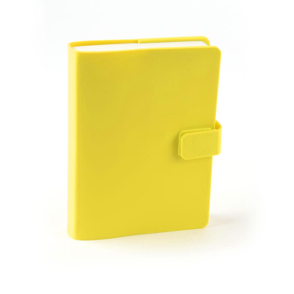 Zápisník so zapínaním A7  909-2, 132 l. - žltá