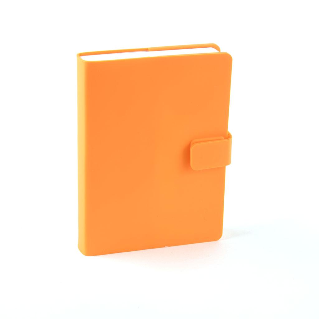 Zápisník so zapínaním 86X120mm   0908, 132 l. - oranžový