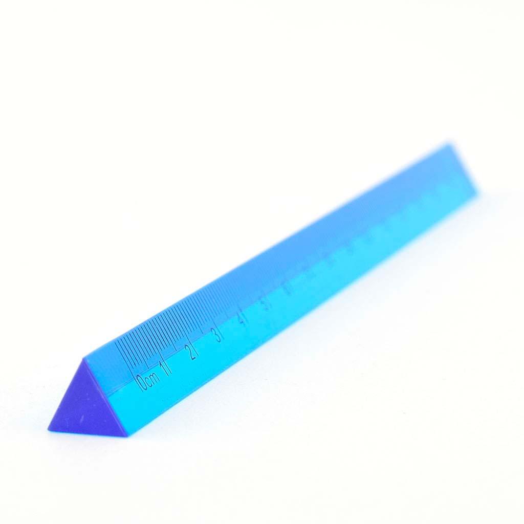 Pravítko trojhranné 15cm, mix farieb