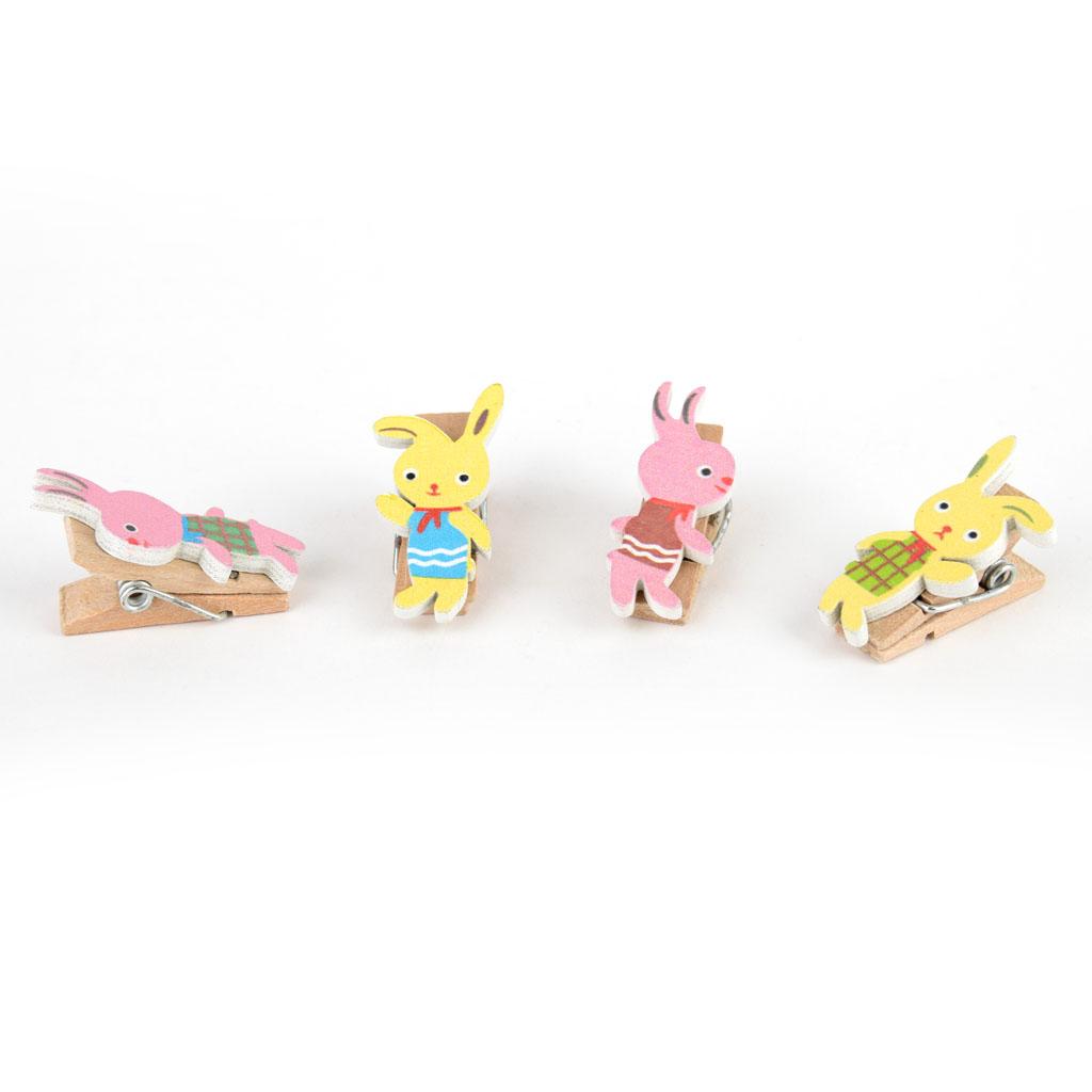 Drevené štipce zajac (4ks)