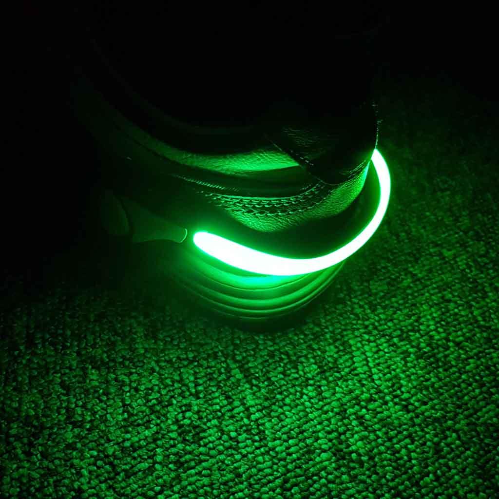 LED reflexné svetlo na topánky, zelené