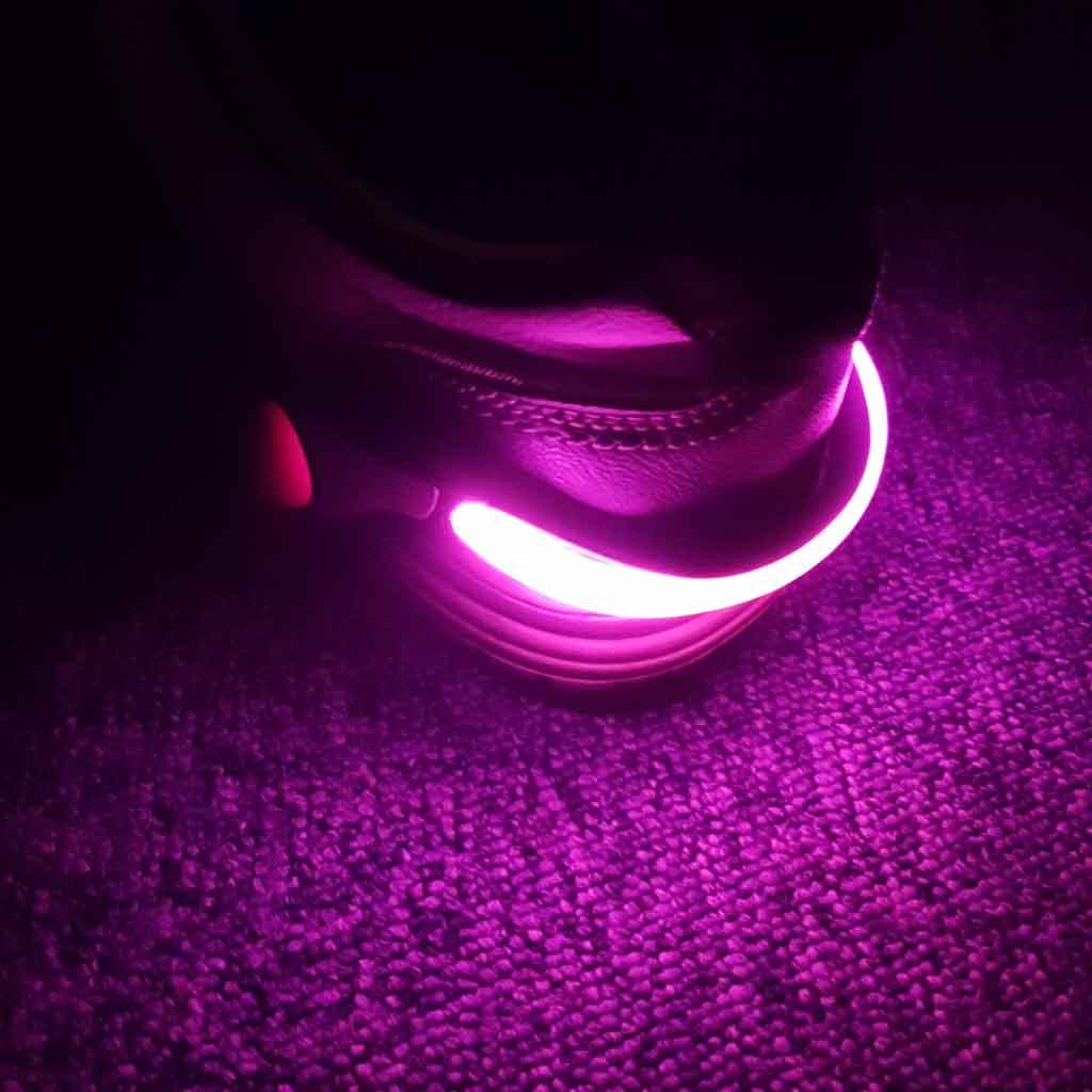 LED reflexné svetlo na topánky, ružové