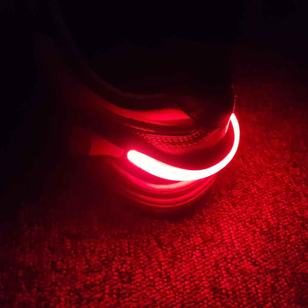 LED reflexné svetlo na topánky, červené