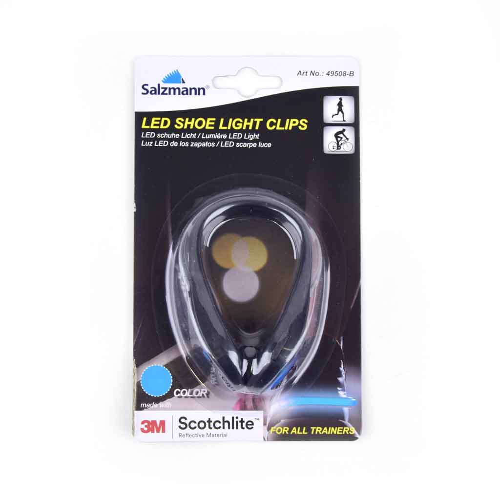 LED reflexné svetlo na topánky, modré