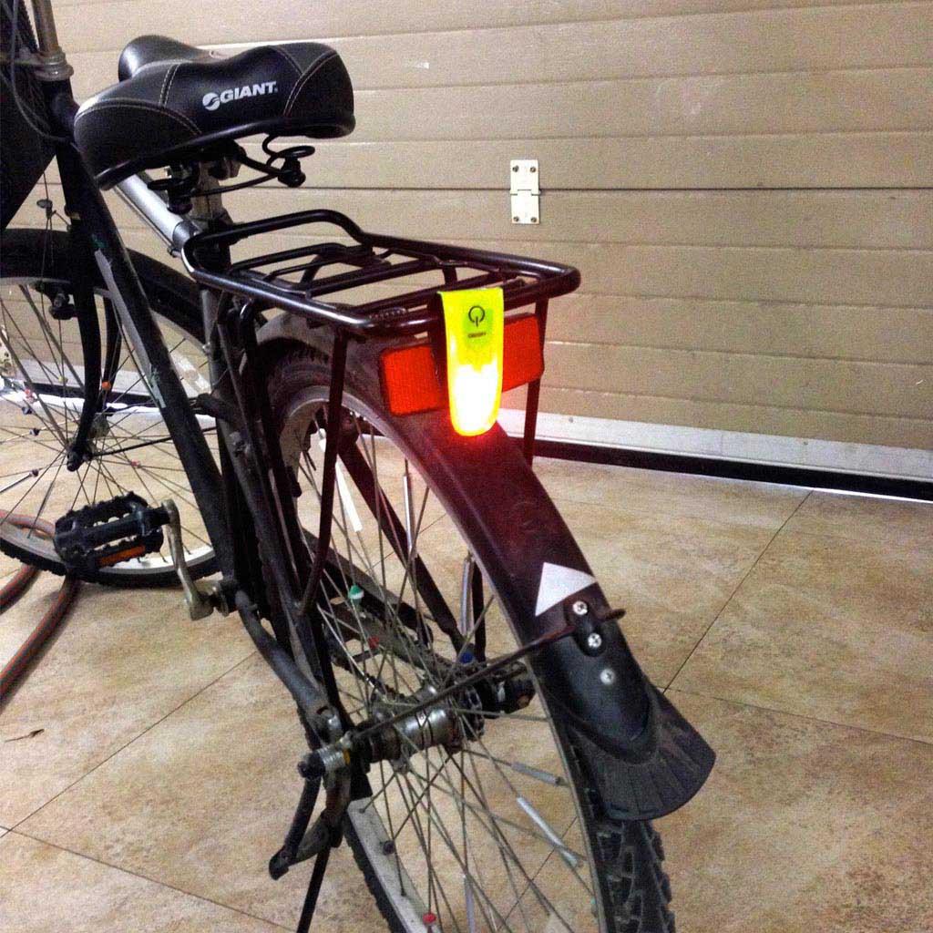 LED reflexný klip + refl. elastický náramok