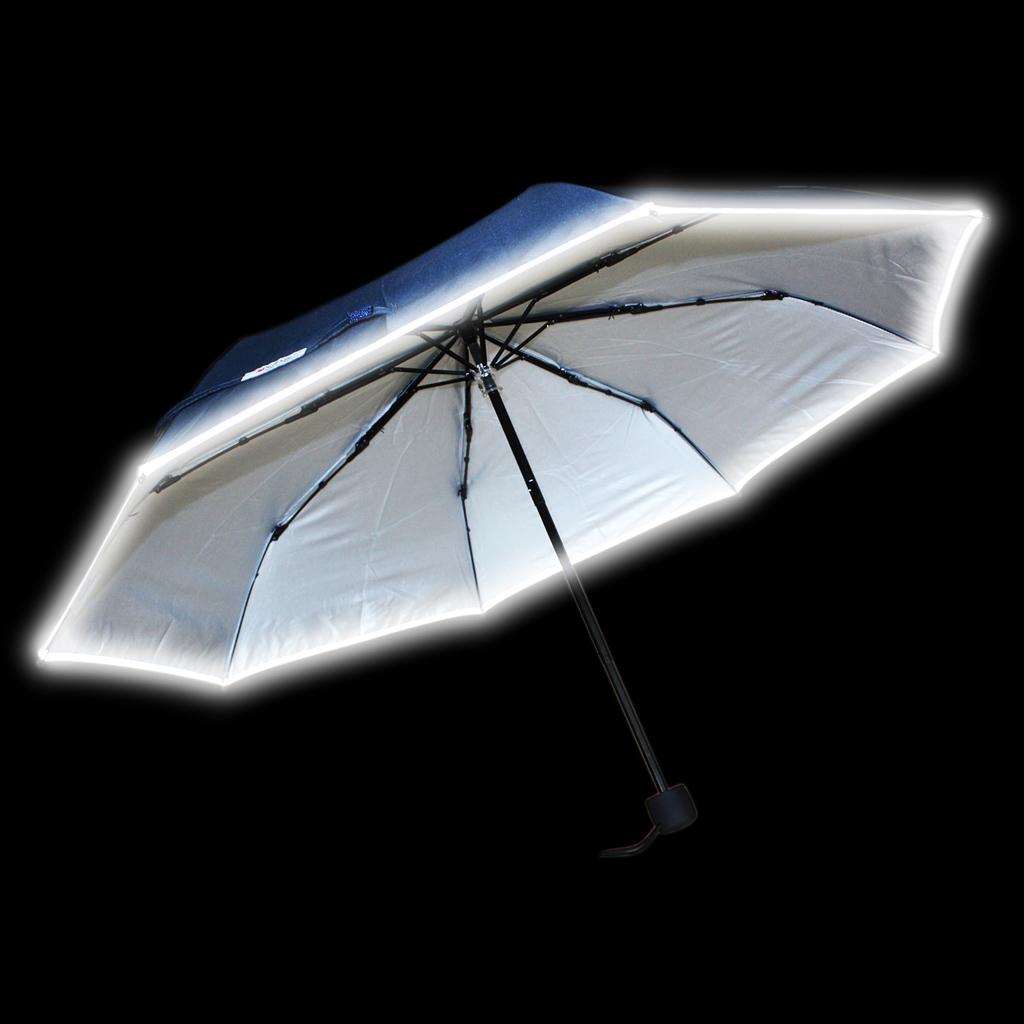 Reflexný dáždnik, skladací, modrý
