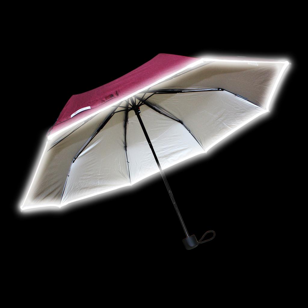 Reflexný dáždnik, skladací, fialový
