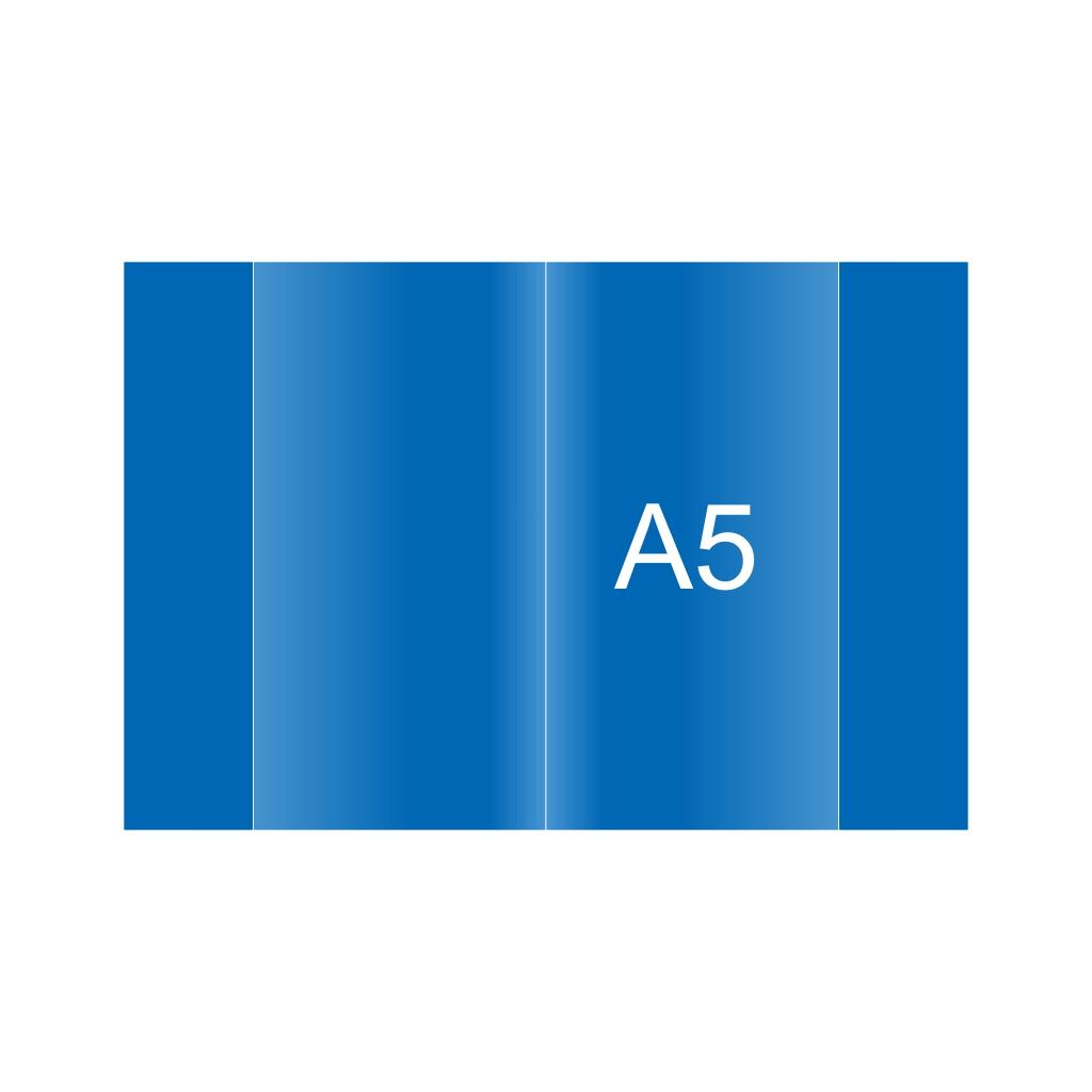 Obal na zošit PVC A5, modrý, 120 mic.