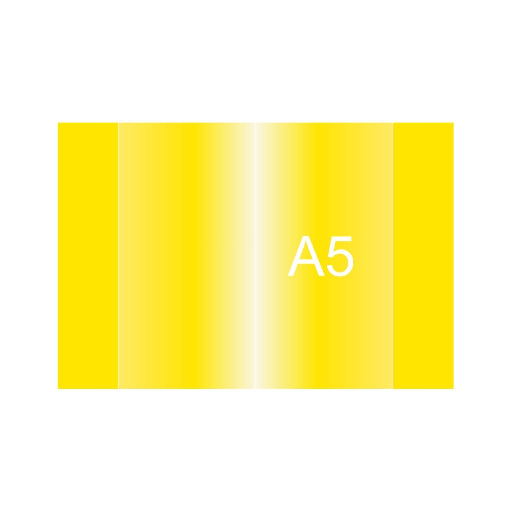 Obal na zošit PVC A5, žltý, 120 mic.