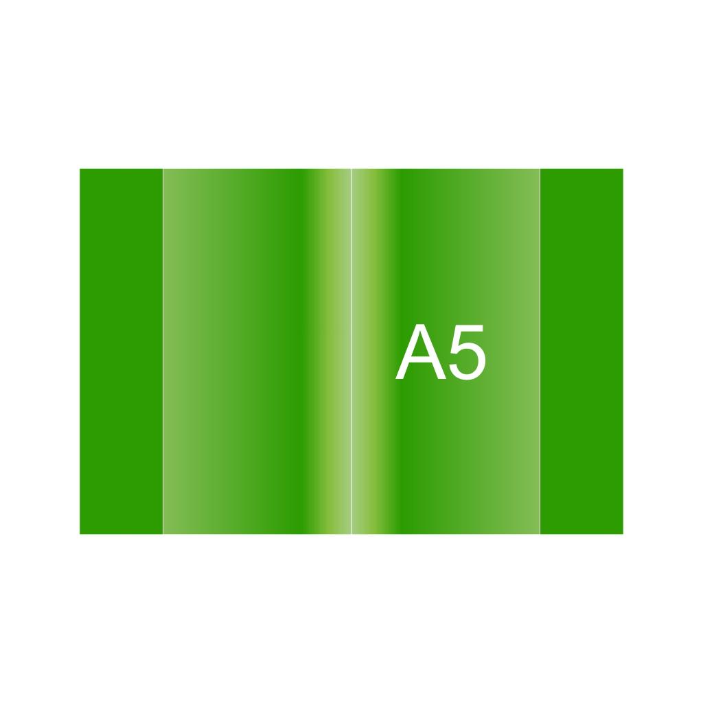Obal na zošit PVC A5, zelený, 120 mic.