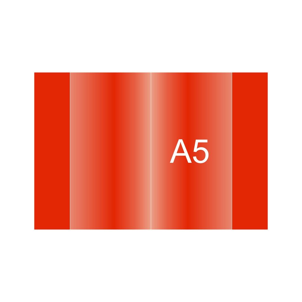 Obal na zošit PVC A5, červený, 120 mic.