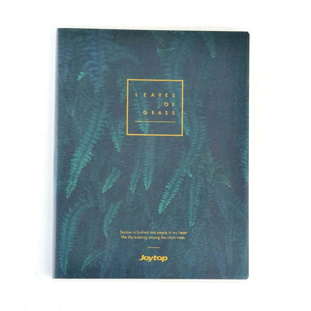 """Poznámkový blok A5, linajkový, 78l, s obalom, """"Leaves of grass"""", mix motívov"""