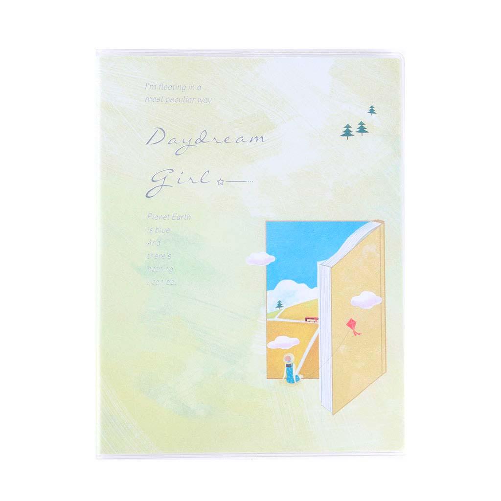 """Poznámkový blok A5, linajkový, 78l, s obalom, """"Daydream girl"""", mix motívov"""