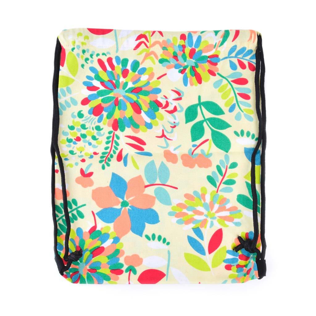 Textilné vrecko na prezúvky, kvety