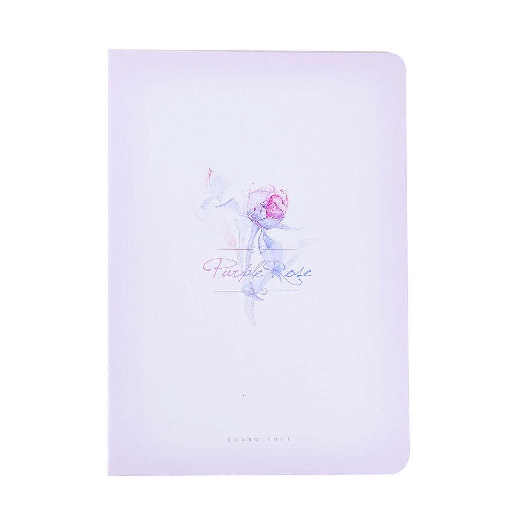 Poznámkový blok B5, linajkový, 46l., šitý, kvety, mix motívov