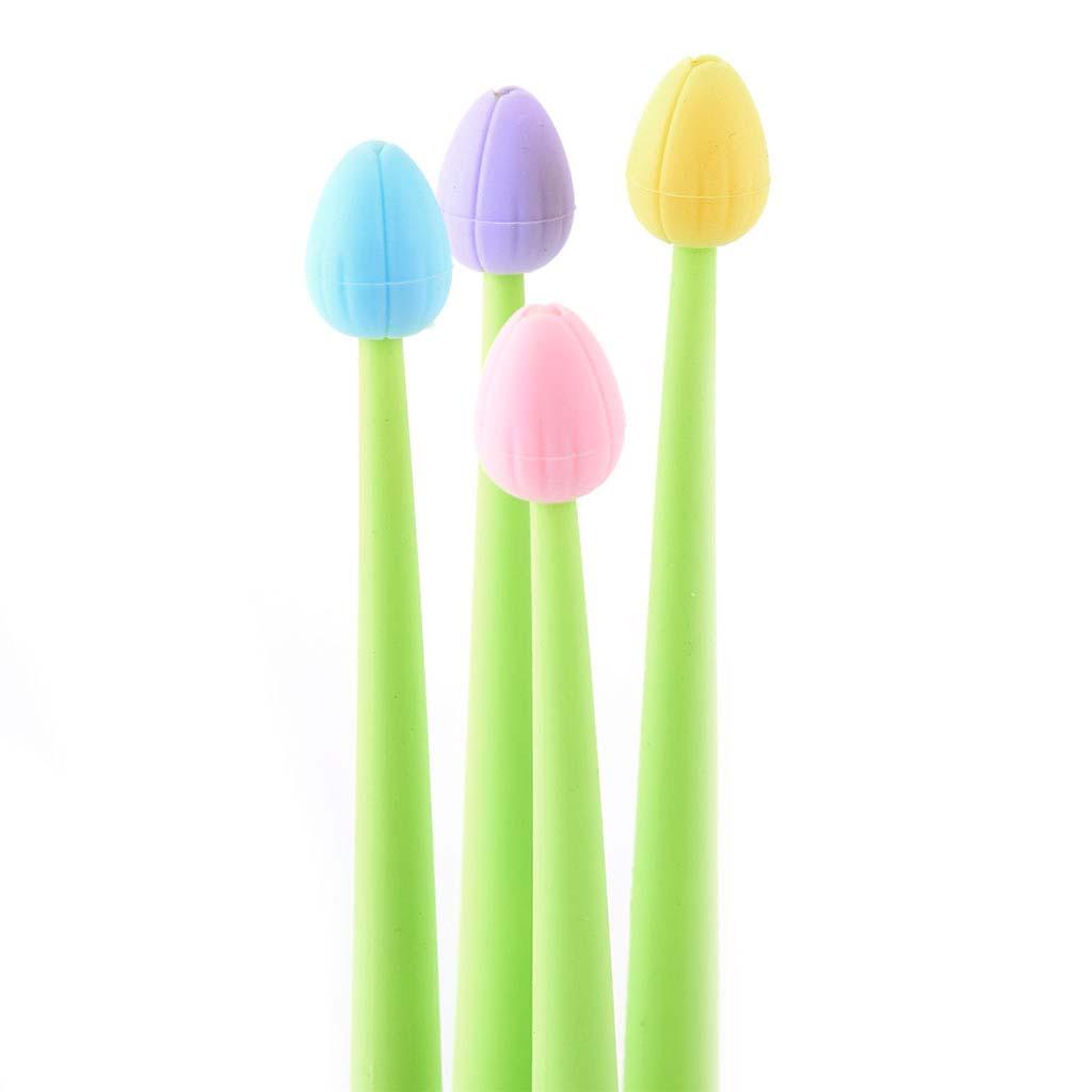 "Pero gelové 0,5 mm, čierna náplň, ""tulipán"", mix farieb"