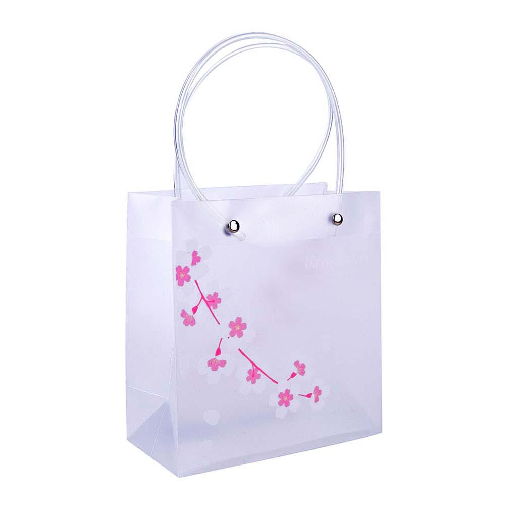 """Darčeková taška, priehľadná, 16x17x8cm, """"sakura"""", mix motívov"""