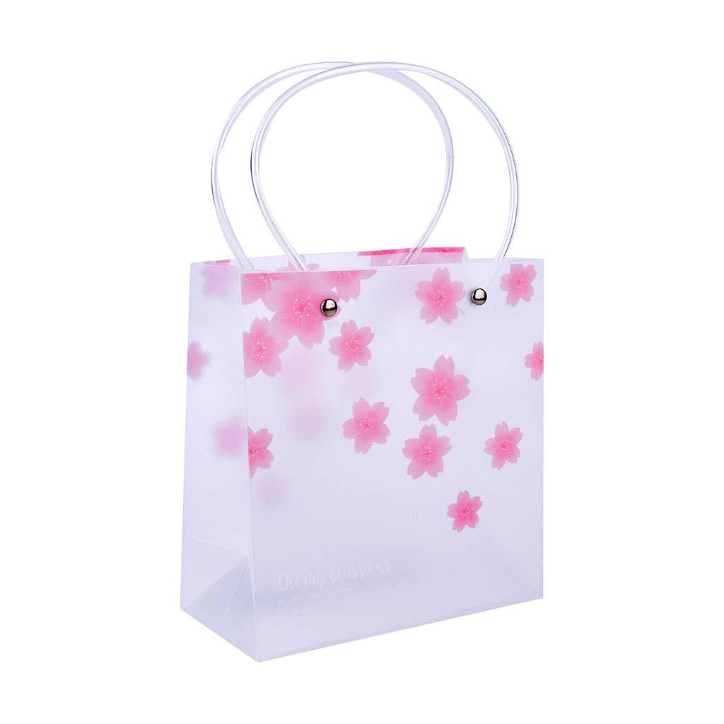 """Darčeková taška, priehľadná, 20x20x10cm, """"sakura"""", mix motívov"""